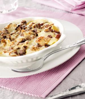 Tegamino di patate sauté  con pecorino e funghi