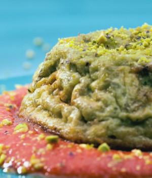 Artichoke pie with Pomodorina sauce