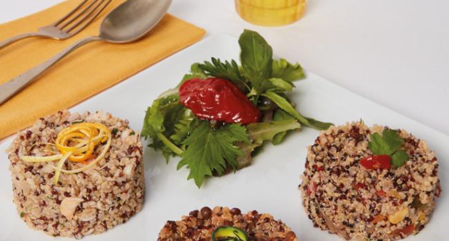 Three  coloured quinoa
