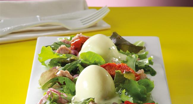 Uova glassate in salsa