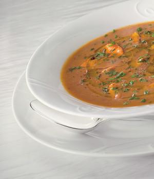 Zuppa di cozze e lenticchie