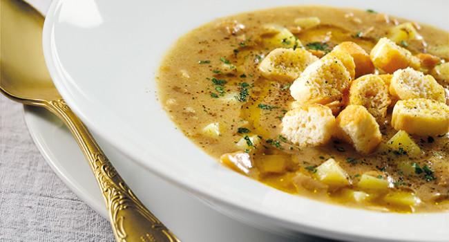 Porcini and Potato soup