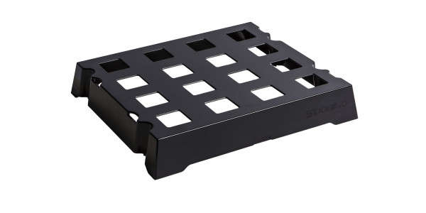 Black ABS tray of 16 S'Panito baskets
